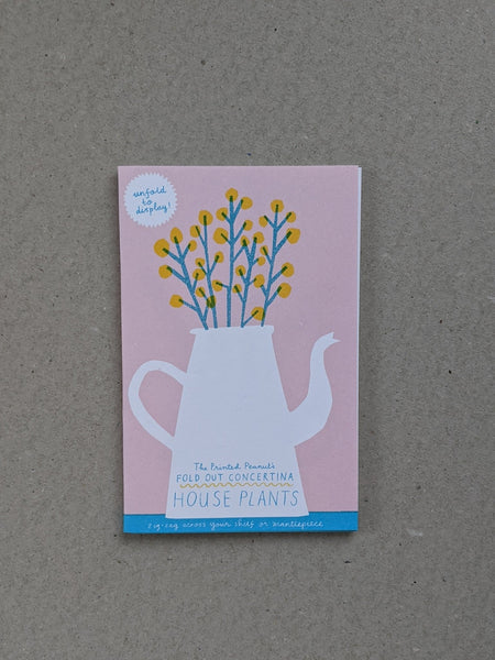House plants concertina book - The Stationery Cupboard