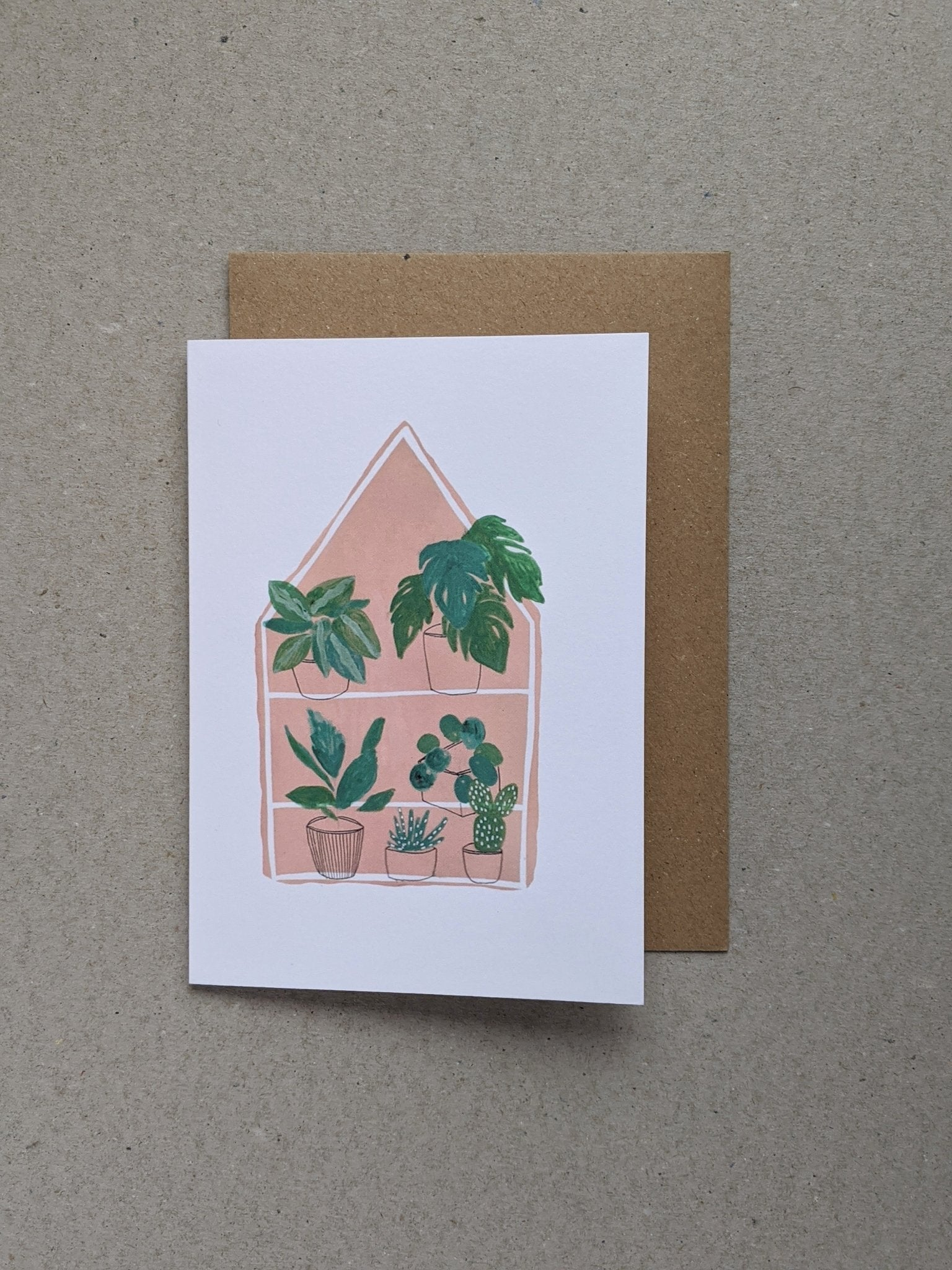House Plants greetings card - The Stationery Cupboard