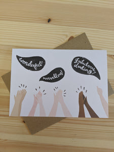 Hurrah celebration card - The Stationery Cupboard