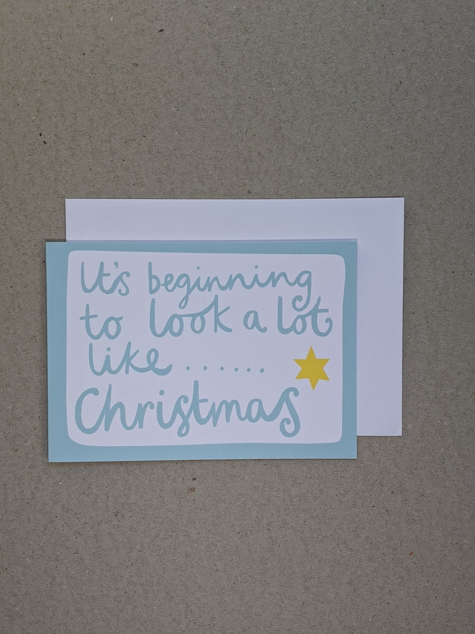 It's Beginning Christmas Greetings Card - The Stationery Cupboard