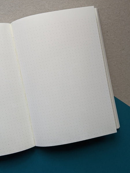 Layflat dotted notebook - grey - The Stationery Cupboard
