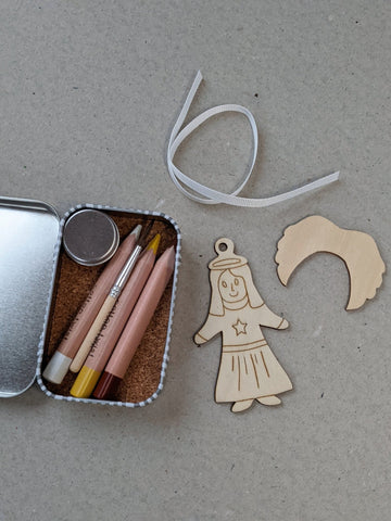 Make Your Own Christmas Decoration, Angel - The Stationery Cupboard
