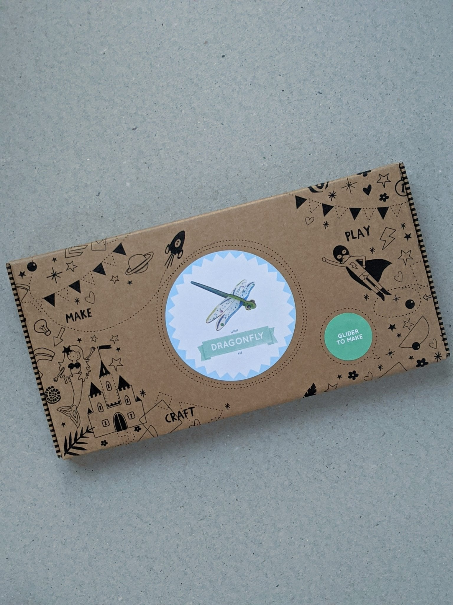 Make Your Own Dragonfly Glider Craft Kit Activity Box - The Stationery Cupboard