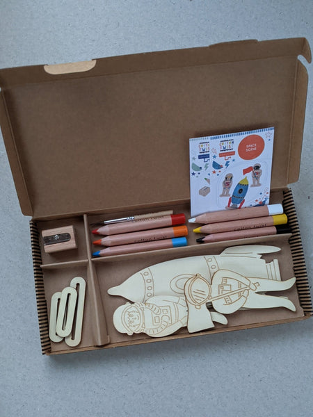 Make Your Own Space Scene Craft Kit Activity Box - The Stationery Cupboard