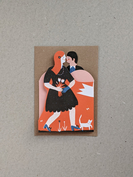 Man and Woman Concertina Heart Card - The Stationery Cupboard