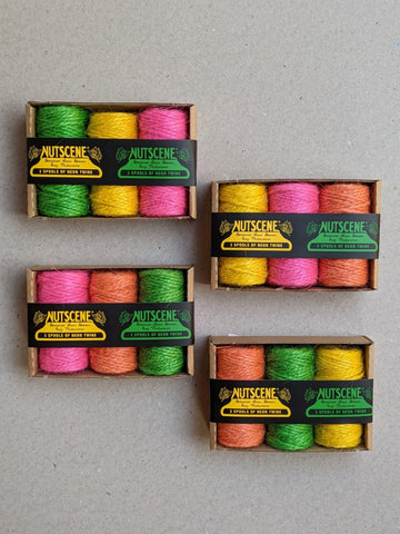 Nutscene Neon Jute Twine 3 Pack - The Stationery Cupboard