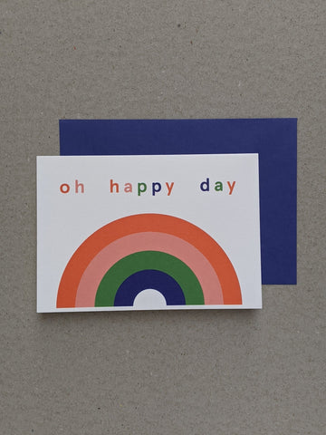 Oh Happy Day Greetings Card - The Stationery Cupboard