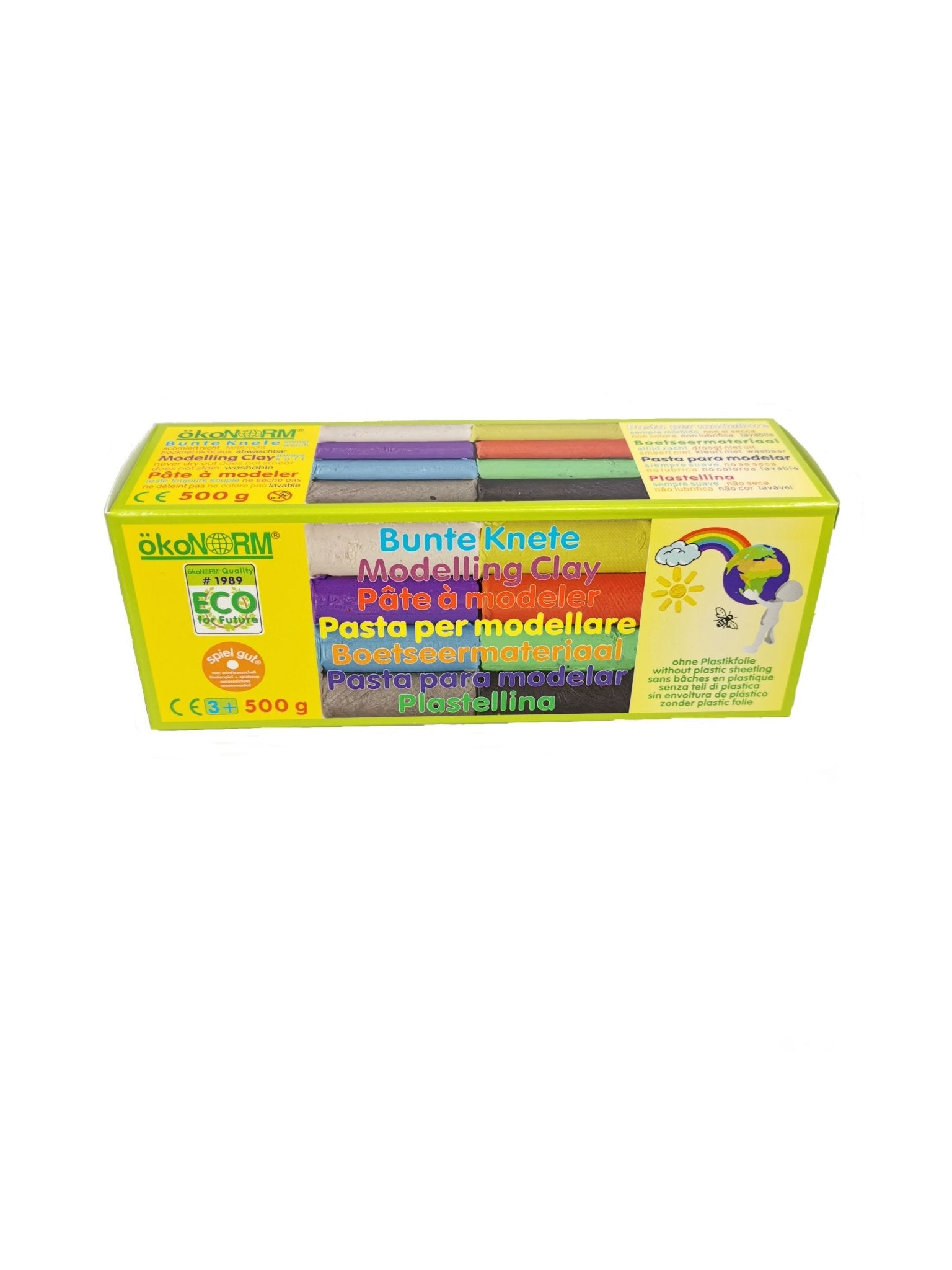 okoNORM Modelling clay always soft - 8 colour pack - The Stationery Cupboard