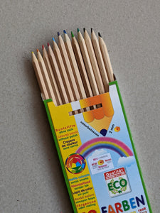 ökoNorm Natural Coloured Pencil Set, 12 colours - The Stationery Cupboard