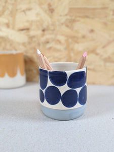 Patterned pencil pot by Beci Callow - The Stationery Cupboard