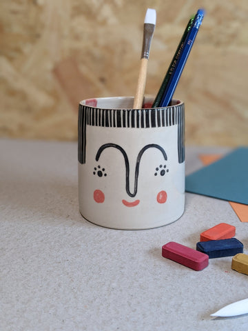 Person pencil pot by Beci Callow - Aria - The Stationery Cupboard