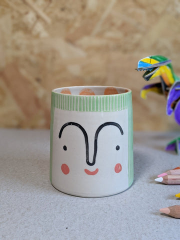 Person pencil pot by Beci Callow - Lina - The Stationery Cupboard