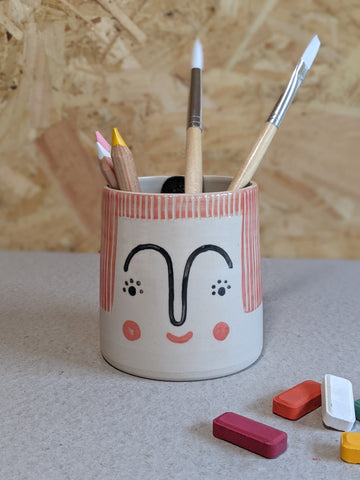 Person pencil pot by Beci Callow - Lulu - The Stationery Cupboard