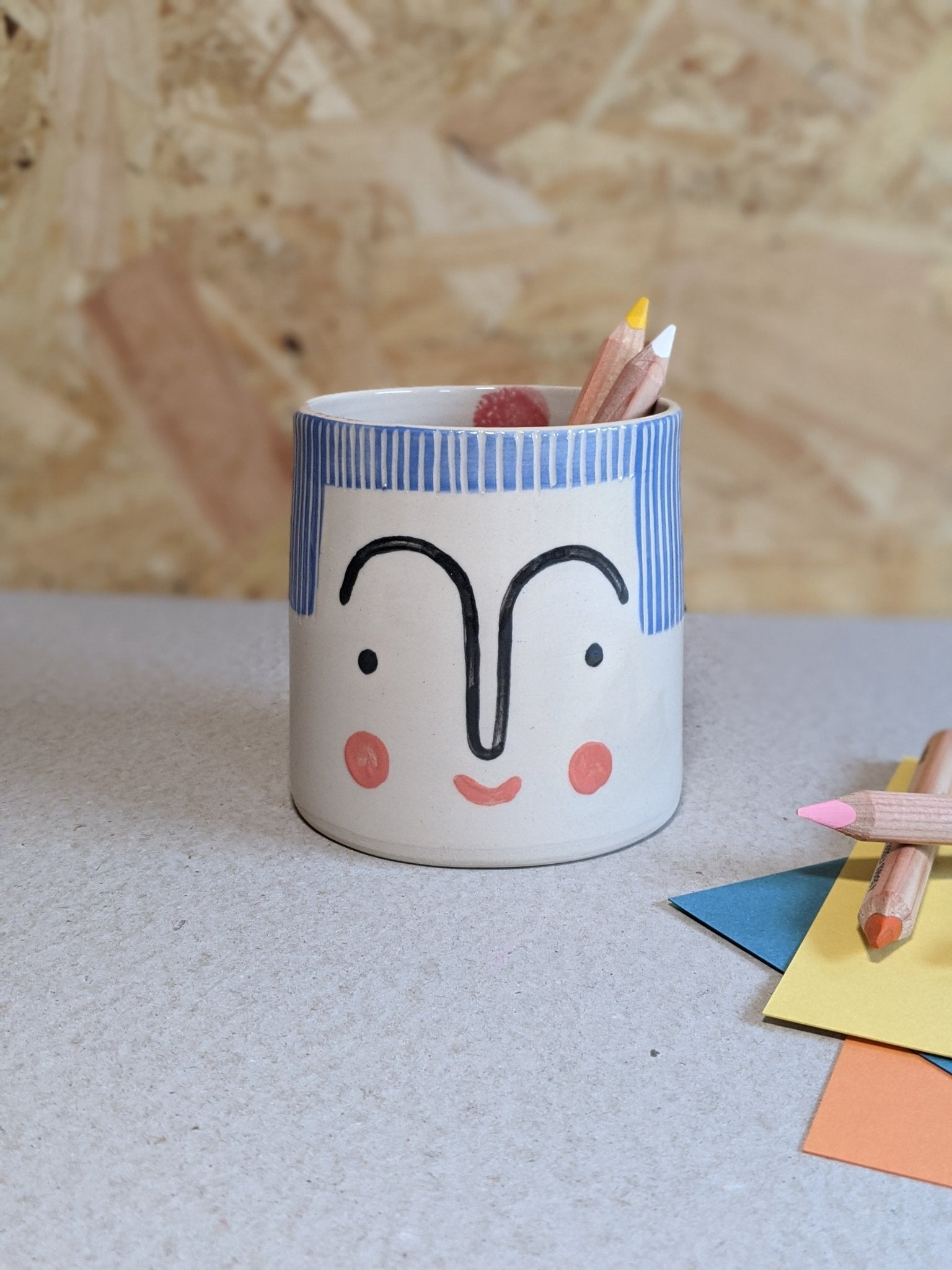 Person pencil pot by Beci Callow - Paz - The Stationery Cupboard