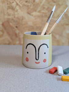 Person pencil pot by Beci Callow - Talia - The Stationery Cupboard