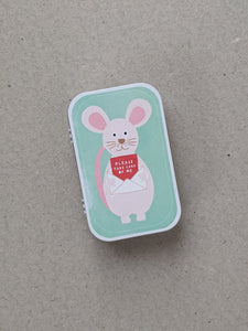 'Please Take Care Of Me' Woodland Mouse - The Stationery Cupboard