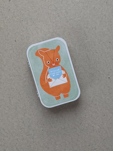 'Please Take Care Of Me' Woodland Squirrel - The Stationery Cupboard