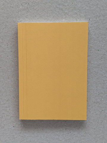 Pocket Dotted Layflat Notebook - Blocks Print in Mustard - The Stationery Cupboard