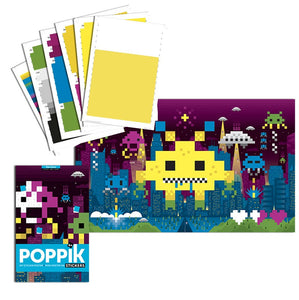 Poppik creative sticker poster - Pixel art - The Stationery Cupboard