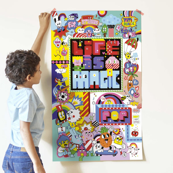 Poppik creative sticker poster - Street art - The Stationery Cupboard