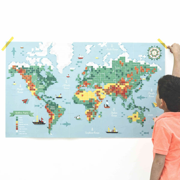 Poppik creative sticker poster - World map - The Stationery Cupboard