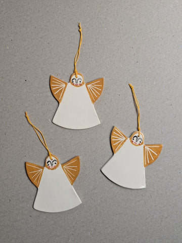 Porcelain Christmas angel decoration - The Stationery Cupboard