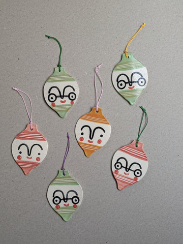 Porcelain Christmas bauble decoration - The Stationery Cupboard
