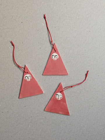 Porcelain Christmas Santa decoration - The Stationery Cupboard