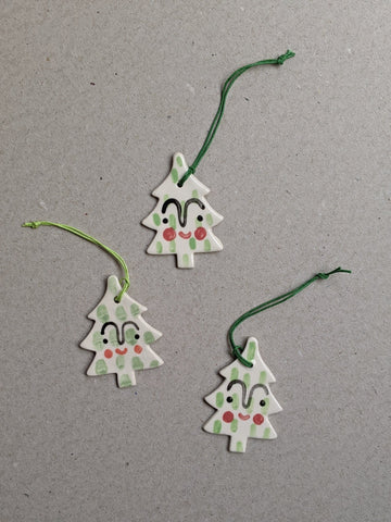 Porcelain Christmas tree decoration - The Stationery Cupboard