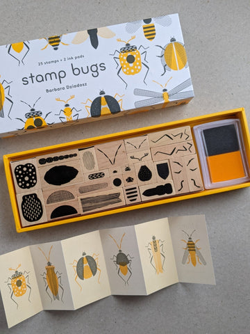 Stamp Bugs, 25 stamps and 2 ink pads - The Stationery Cupboard
