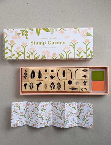 Stamp Garden, 25 stamps and 2 ink pads - The Stationery Cupboard