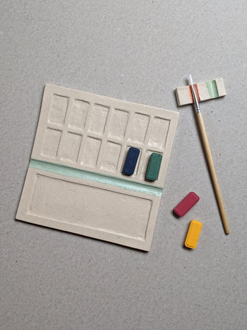 Stoneware paint palette - mint - The Stationery Cupboard
