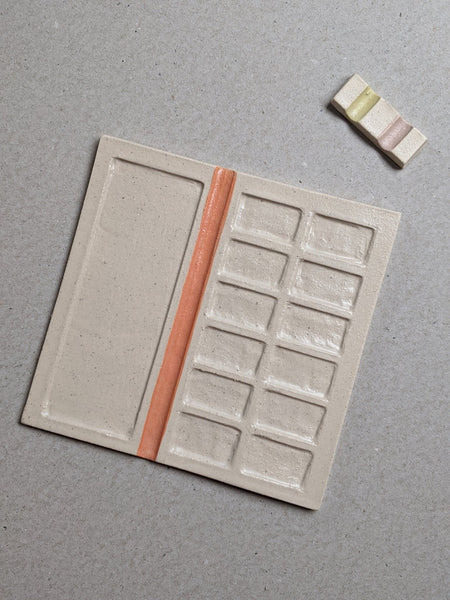 Stoneware paint palette - orange V1 - The Stationery Cupboard