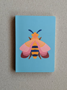 Studio Roof A6 Notebook, Pink Bee - The Stationery Cupboard