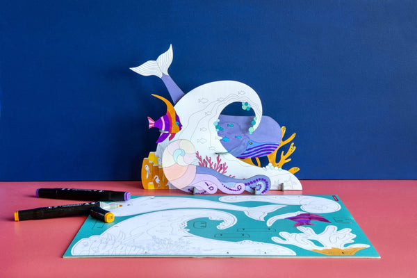 Studio Roof Animal Scene, Ocean Story - The Stationery Cupboard