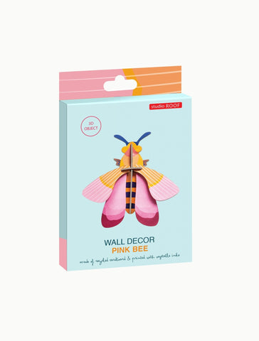 Studio Roof Insect, Wall Decor, Pink Bee - The Stationery Cupboard