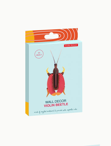 Studio Roof Insect, Wall Decor, Violin Beetle - The Stationery Cupboard