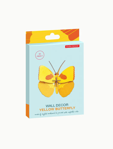 Studio Roof Insect, Wall Decor, Yellow Butterfly - The Stationery Cupboard