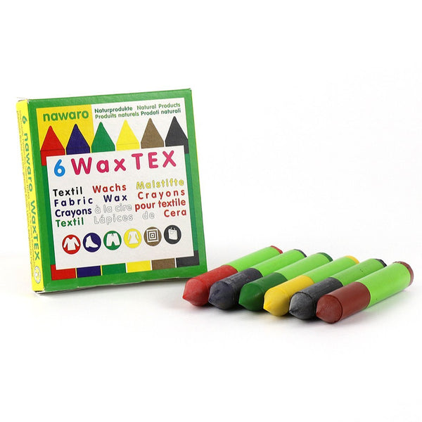 Textile wax crayons 6 colour pack - The Stationery Cupboard