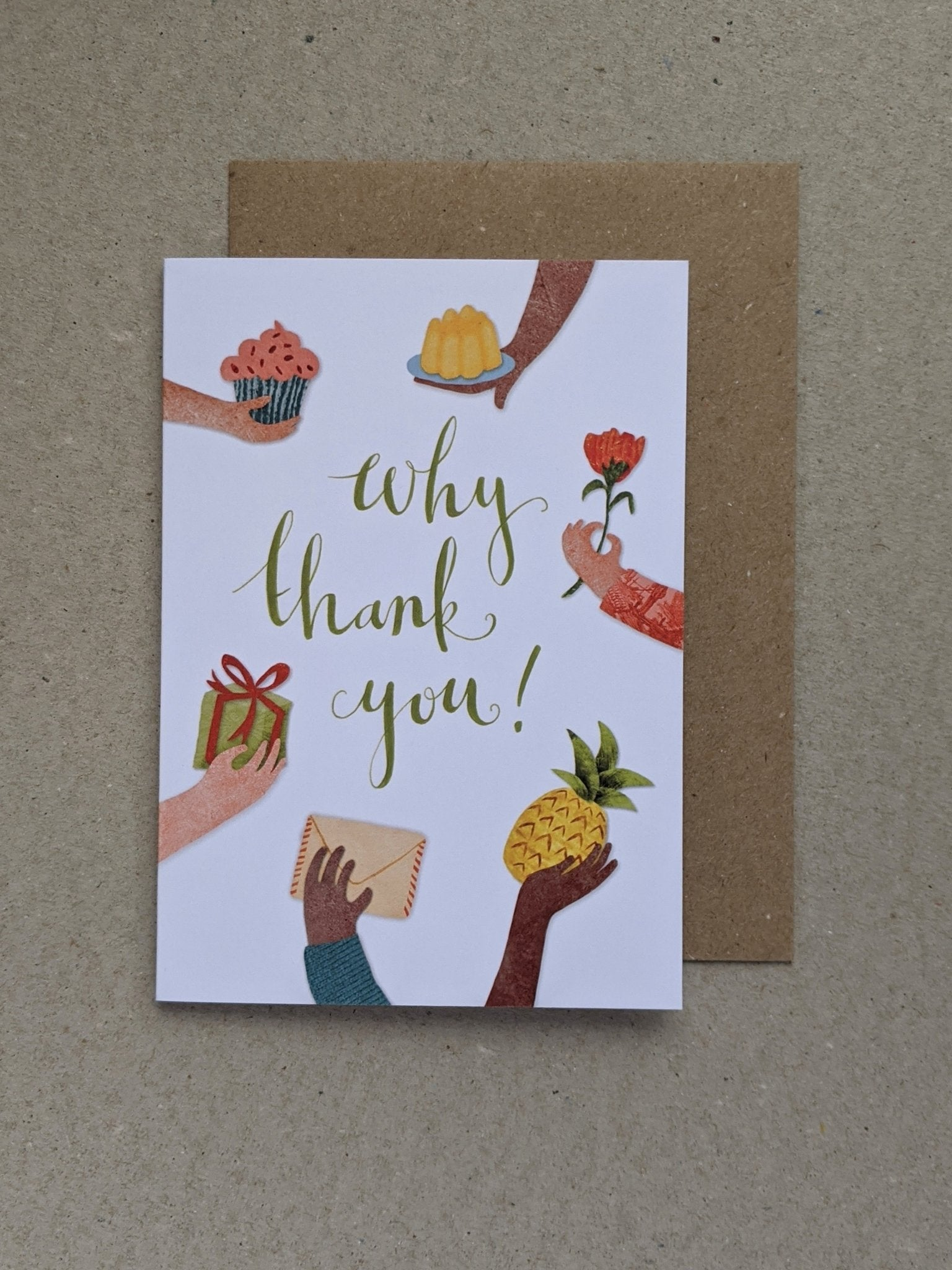 Thank You greetings card - The Stationery Cupboard