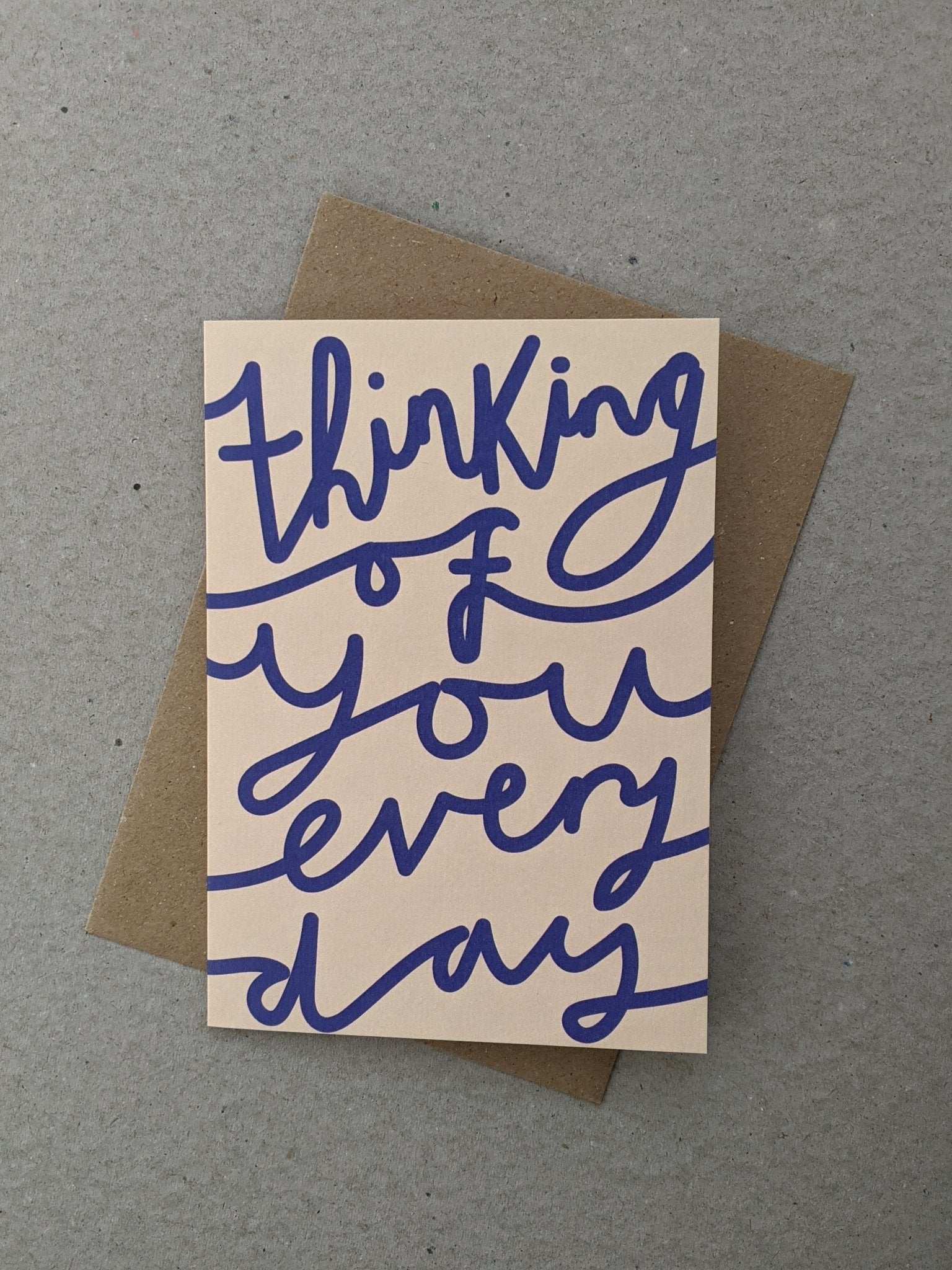 Thinking Of You Greetings Card - The Stationery Cupboard