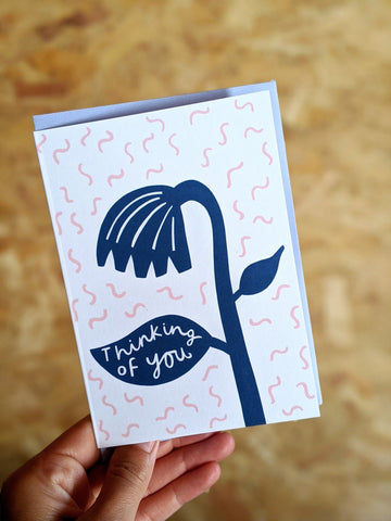 'Thinking of you' sympathy card - The Stationery Cupboard
