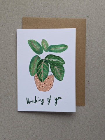 Thinking Of You sympathy greetings card - The Stationery Cupboard