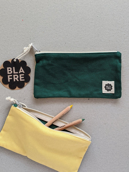 Two Tone Pencil Case, Green & Yellow - The Stationery Cupboard
