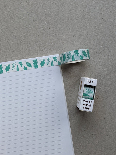 Washi Tape - Pretty Leaves - The Stationery Cupboard