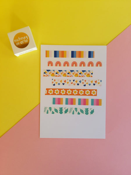 Washi tape - rainbows - The Stationery Cupboard