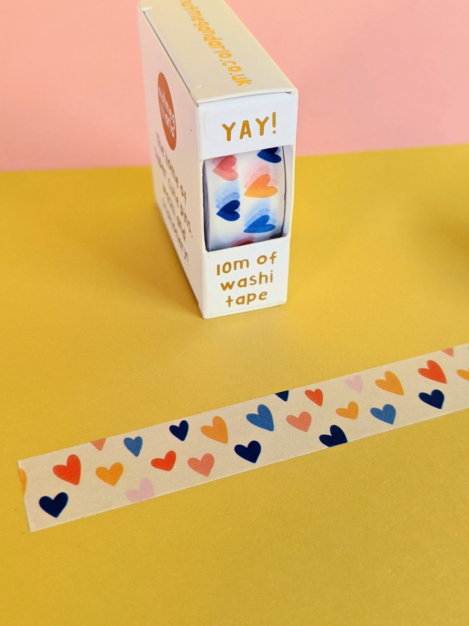 Washi tape - retro hearts - The Stationery Cupboard