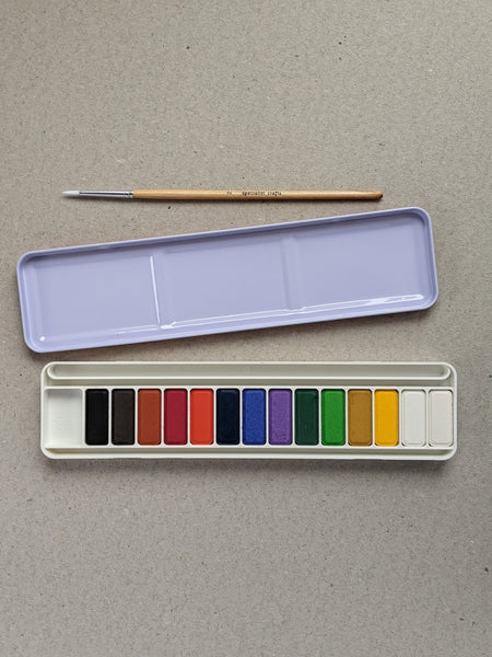 Watercolour set with brush - The Stationery Cupboard