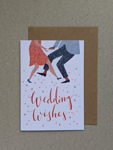 Wedding Wishes celebration greetings card - The Stationery Cupboard