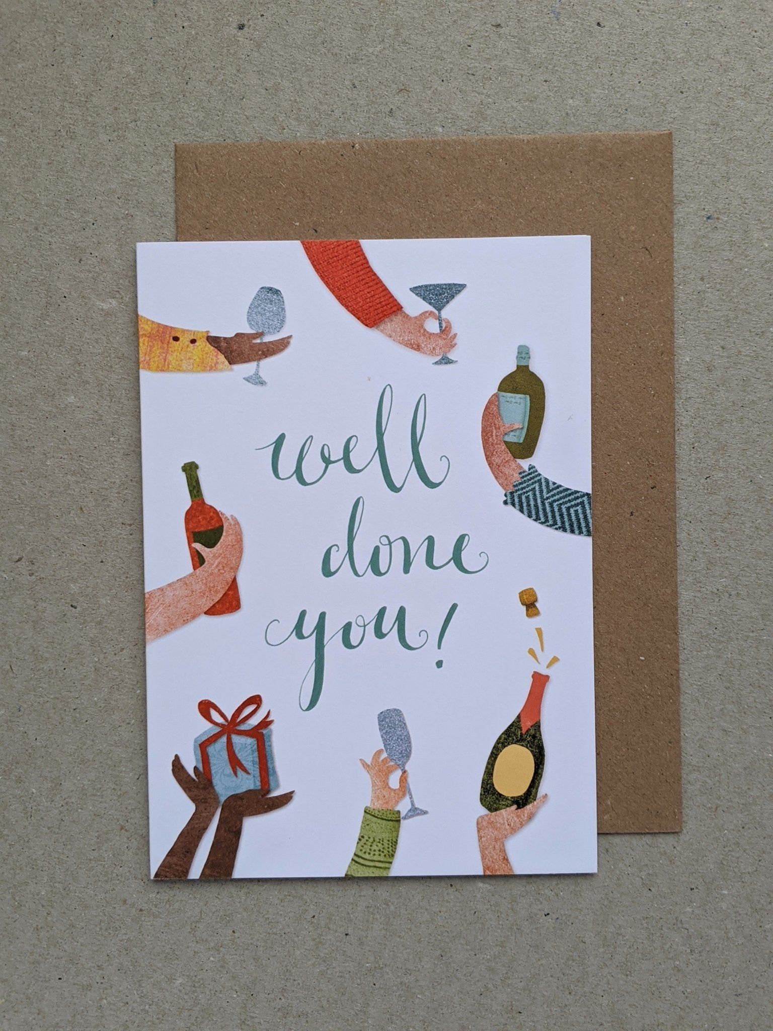 Well Done You celebration greetings card - The Stationery Cupboard